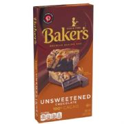 Baker's Unsweetened Chocolate - 100% Pure Cacao